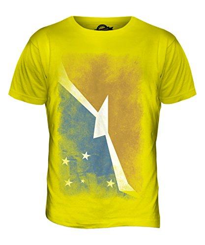 CandyMix Feuerland Verblichen Flagge Herren T Shirt Zitronengelb