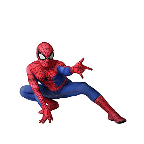 an Kostüm Halloween Cosplay Spiderman Bodysuit Kostümfest Requisiten Klassische Erwachsene Spiderman Kostüm,Adult-L ()