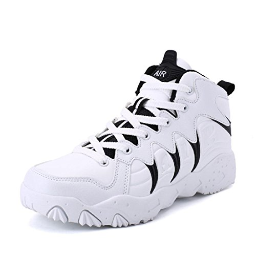 Uomo Autunno Inverno Il nuovo Scarpe da pallacanestro Moda Scarpe sportive formatori Aumenta le scarpe All'aperto Scarpe da corsa euro DIMENSIONE 36-44 White