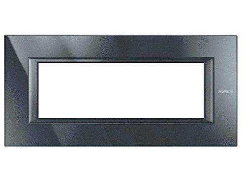 Legrand ha4806hs axolute Cadre de 6 Mod Noir/aluminium