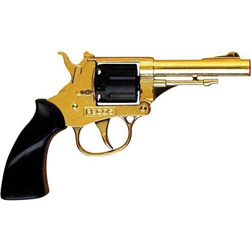 Villa Giocattoli 1550 - Pistola Giocattolo in Metallo a 8 Colpi 125 dB, Pecos Gold