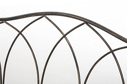 CLP Gartenbank ORKUN im Landhausstil, Eisen lackiert, 107 x 50 cm, 2er Sitzbank Bronze - 5