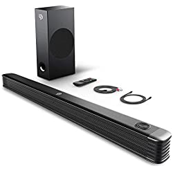 Barre de Son 2.1 Canal avec Subwoofer sans Fil 150W Haut-Parleur, BOMAKER Barre de Son pour TV, Wireless Bluetooth 4.2 Soundbar Son Surround Home Cinéma