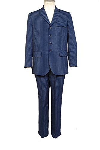Who Will be Doctor Dr Blue Suit Blazer Pants Cosplay Kostüm Herren Maßanfertigung