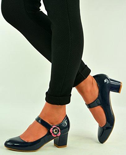 Cucu Fashion , Sandales Compensées femme noir foncé