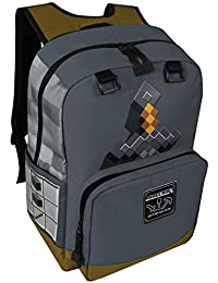 Minecraft Garçon Mine Craft Sac à dos Gris