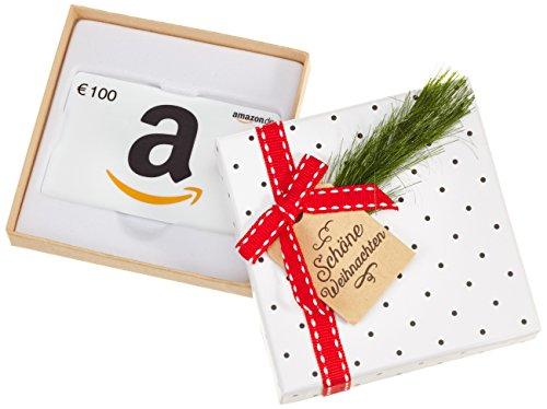 Amazon.de Geschenkkarte in Geschenkbox- 100 EUR (Tannenzweig)