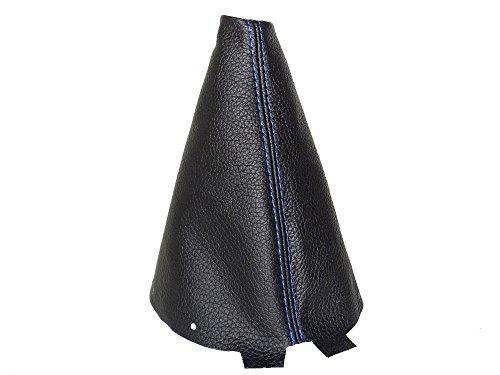 Soufflet de levier avec cadre plastique Cuir Coutures Bleu 190/mm