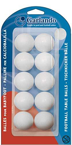 Garlando Unisex-Tischbälle, Weiß, 33,1 mm