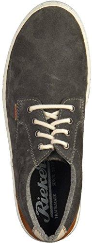 Rieker Herren 19534 Sneakers Grau (antracite/amaretto/chalk / 45)