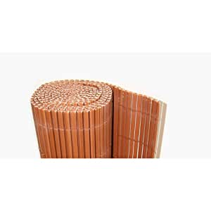 TOPPREIS ! Sichtschutz / Sichtschutzmatte / Windfang aus PVC - Kunststoff Höhe 180cm x Länge 1000cm Braun - Lamellenprofil: Rund
