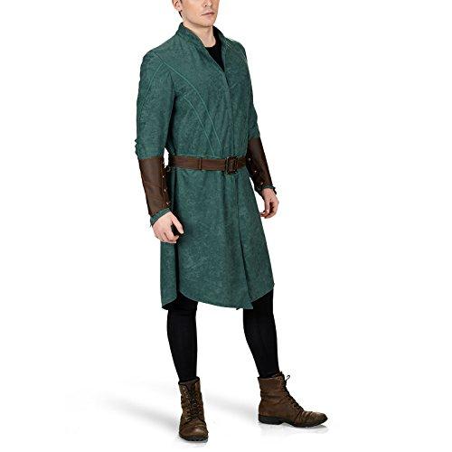 Hobbit Legolas Kostüm 3-tlg. Elben Komplettkostüm Gewand mit Gürtel und Armstulpen Herren - 54/56 (Hobbit Legolas Kostüm)