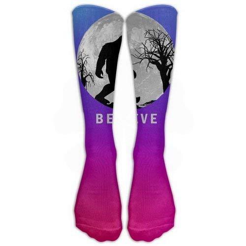 CVDFVFGB Bigfoot Sasquatch Full Moon Stockings Long Tube Socks, Classics Knee High Socks Sports Socks for Women Men One Size 1 Pair by LERJIMUX (Full Moon Kostüm)