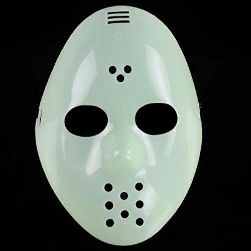 Licht Halloween Maske Horror Ab 18 Clown Weiß für Erwachsene