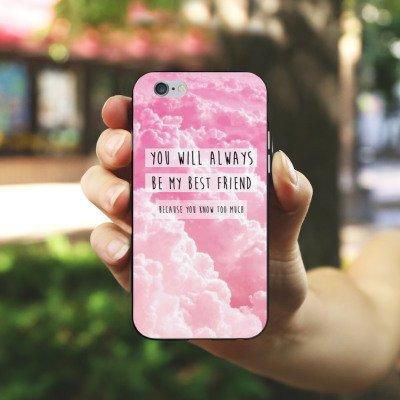Apple iPhone X Silikon Hülle Case Schutzhülle Freunde BF Statement Silikon Case schwarz / weiß