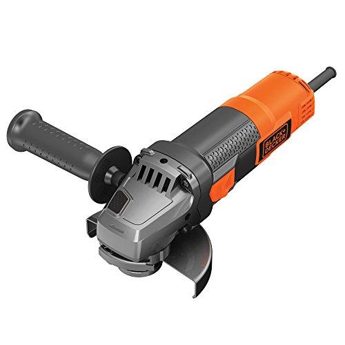 BLACK+DECKER BEG220-QS Amoladora angular 900 W, 12.000 rpm, eje M14, Ajuste de Guarda sin Llave
