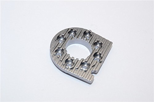 Tamiya TT-01 Tuning Teile Aluminium Motor Mount Plate With Heat Sink - 1Pc Gray Silver (Aluminium Motor Mount)