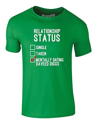 Brand88 - Mentally Dating Daveed Diggs, Erwachsene Gedrucktes T-Shirt Grün/Weiß