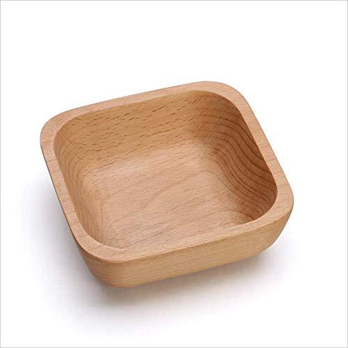 MOOMDDY Getrocknete Obstplatte, Square Wooden Fruit Platte, Snack Candy Storage Box, Multifunktionale Salate Bowl Bread Plate,S Fruit Bowl Candy