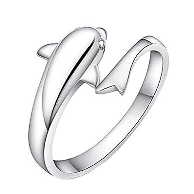 Shuda Elegant Womens Jewellery Heart Crystal Opening Adjustable Rings Anniversary Wedding Band Engagement Ring Bridal Set : everything 5 pounds (or less!)