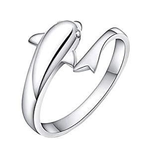 emorias 1 PCS Lovely Dolphin Form Frau Ring Fashion Beautiful offen Ring Jewelry Accessories Ring kann verstellbar Lover Geschenk
