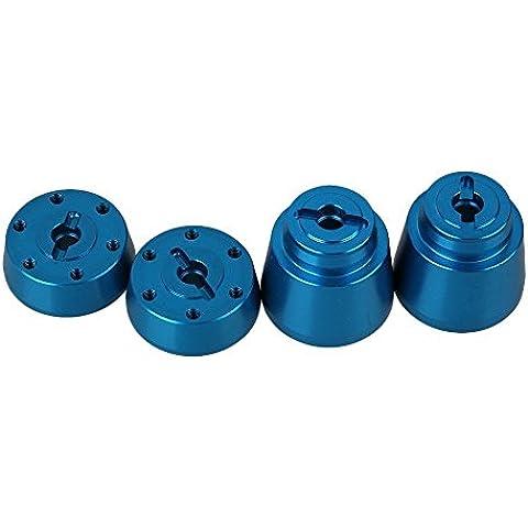 Youzone Alluminio frontale Blu AX31010 AX31011 anteriore e posteriore della rotella Hex supporto per Axial YETI ROCK RACER 90026 RC 01:10 Rock Crawler (Set di 2)