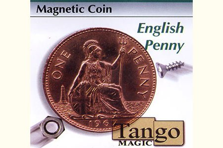 Magnetic Coin English Penny (w/DVD) by Tango - Trick (D0027)