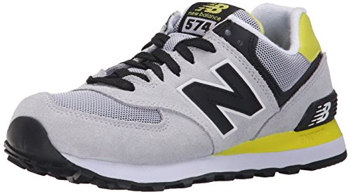 New Balance ml Wl574v1, Baskets Basses Femme Multicolore (Grey/Black/Yellow)