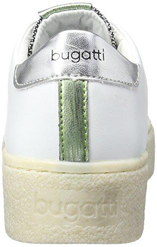 Bugatti J9001pr6n6, Baskets Basses Femme Blanc - Weiß (weiss/silber 207)