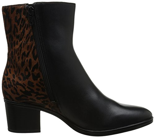 Naturalizer Harding Boot Black Leather/Leopard Pony Hair