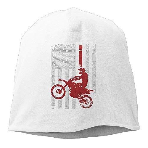 ASKYE USA Flag Dirtbike Motocross Beanie Hats Knit Skull Caps Beanies for Men Women Royalblue - Girls-cable Knit Tights