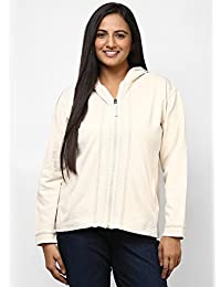 GRAIN Cream Color Regular fit Cotton Jackets for Women