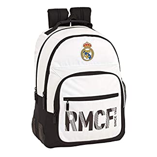 41yvkQToNlL. SS324  - Real madrid cf Mochila Doble con cantoneras Adaptable a Carro.