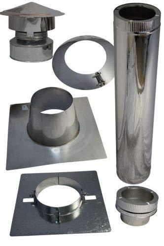 Kamin Dachdurchführung für Bitumen Flachdach im Set (120 mm)