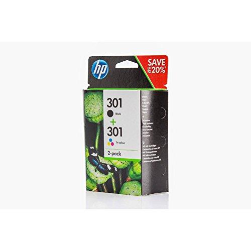 Original Tinte passend für HP DeskJet 2544 HP 301 N9J72AE - 2X Premium Drucker-Patrone - Schwarz, Cyan, Magenta, Gelb - 1x190, 1x165 Seiten