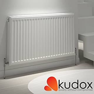 Premium Double Panel Double Convector Radiator by Kudox | Type 22 | 600mm x 1200mm | 7,324 BTU's