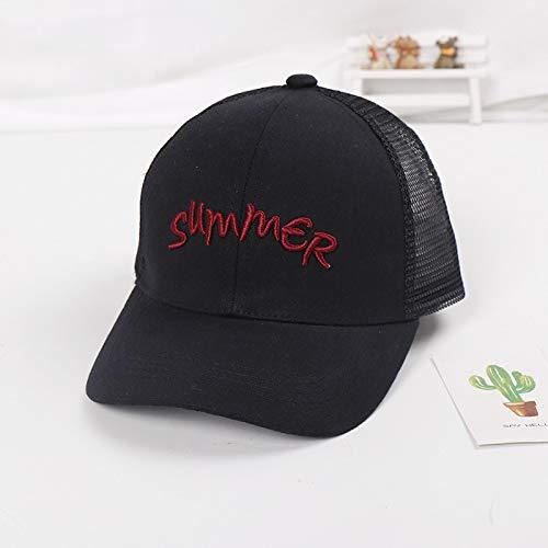 mlpnko Kinder Hut Neue Schutzhelm Kappe Buchstaben Kinder Baseballmütze Baby Sonnenhut schwarz 50-52cm geeignet für 2-4 Jahre alt