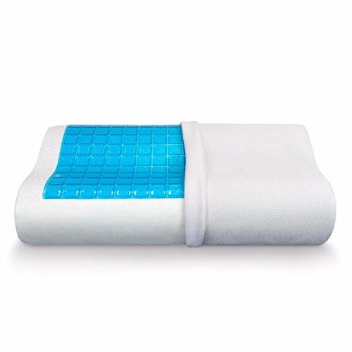 Jitsu Sueño Confort Gel Enfriamiento Ortopédico Almohada Espuma Memoria Con Funda