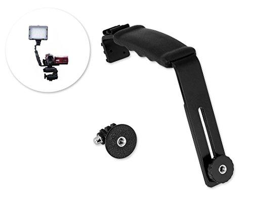 Flash de micrófono Dual/luz de vídeo soporte de 2 soportes en L...