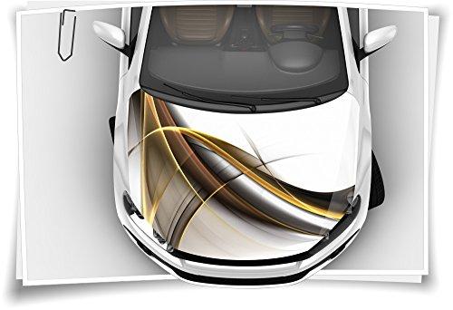 Gold Abstrakt Linien Modern Autoaufkleber Airbrush Motorhaube Carwrapping Folie RapidAir