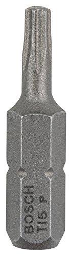 Bosch Pro Bit Extra-Hart für Innen-Torx-Schrauben (T15, Länge: 25 mm, 3 Stück) (Torx T15)