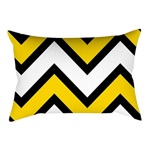 YWLINK 1PC Amarillo Rectangular Moda Simple Vendimia Funda De Almohada CojíN DecoracióN...