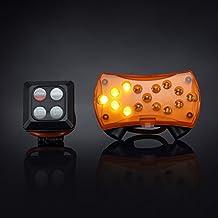 Bicicleta luz trasera con intermitente, fishermo Control inalámbrico para bicicleta LED luces traseras, IPX4resistente al agua USB Batería Clip para el deporte al aire libre