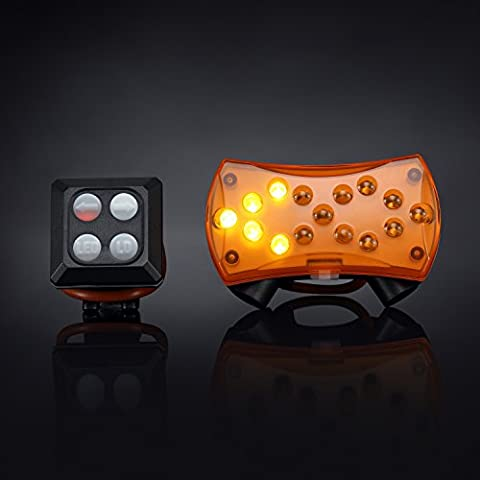 Bike Tail Light with Turn Signal, FisherMo Wireless Control Bicycle LED Rear Lights, IPX4 Water Resistant USB Rechargeable Clip for Sport