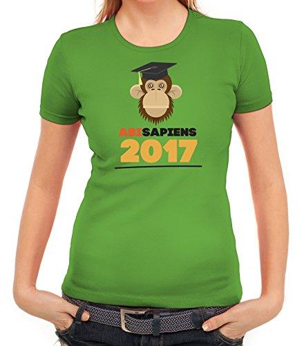 Abschluss Abitur Damen T-Shirt mit Abisapiens von ShirtStreet Apfelgrün
