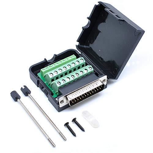 willwin DB25Männlich 25Pins Connector Adapter mit Mutter Terminal Breakout Board Frei Schweißen Male/with Screw -