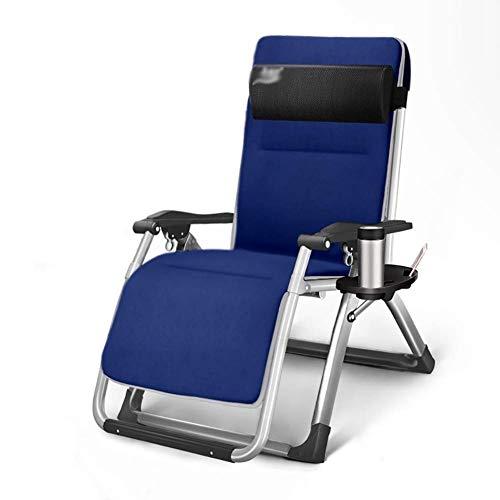 Liegestuhl Reclining Terrassenstühle Liegen, Schwerelosigkeit Chaise Lounges Mit Getränkehalter Outdoor Beach Camping Unterstützt 200kg Sonnenliege -