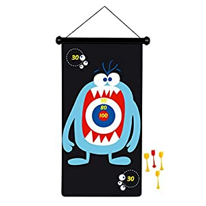 Scratch Dardos Monster magnéticamente 70 x 36 cm, diseño de Doble Cara