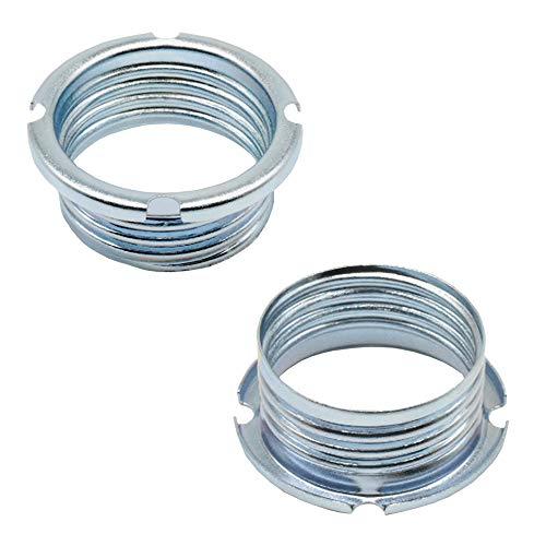 Schraubring Gewinde 20,8 x 2 für Halogenfassungen G9 / GY6,35 / GU4 / GU5,3 Metall verzinkt ø 27x11mm - 2 Stück Schraub-Ringe
