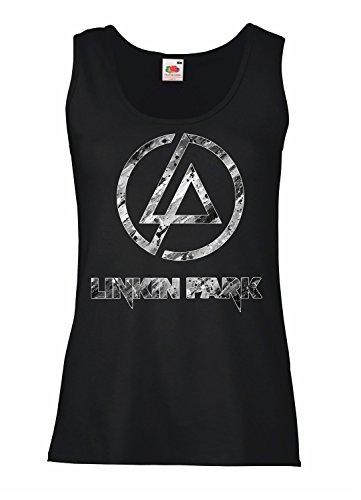 LaMAGLIERIA Camiseta de Tirantes Mujer Linkin Park - Black and...